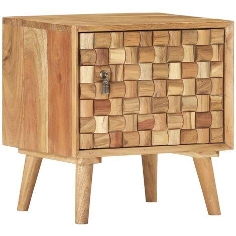 Bedside Cabinet 42x35x45 cm Solid Acacia Wood