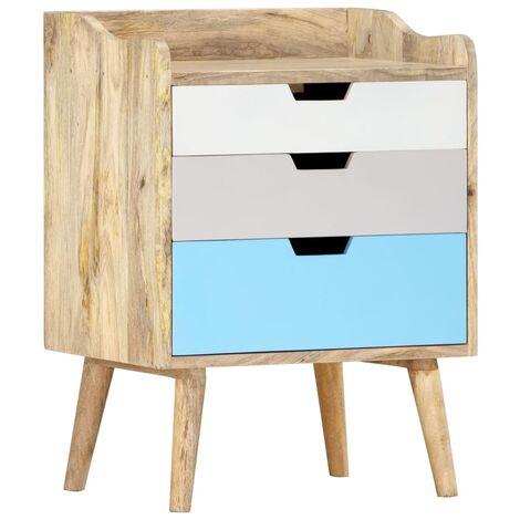 Bedside Cabinet 47x35x63 cm Solid Mango Wood