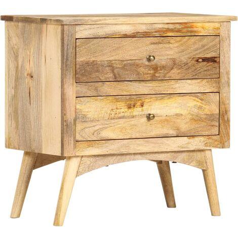 Bedside Cabinet 65x35x60 cm Solid Mango Wood