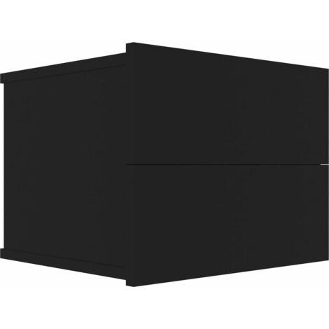 Bedside Cabinet Black 40x30x30 cm Chipboard