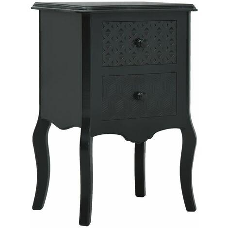 Bedside Cabinet Black 43x32x65 cm MDF