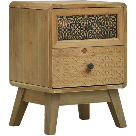 Bedside Cabinet Brown 37x30x51 cm Wood