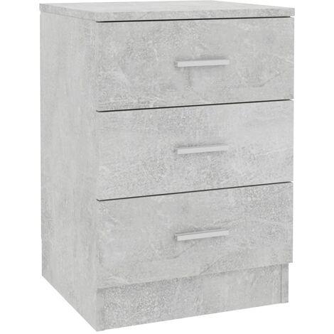 Bedside Cabinet Concrete Grey 38x35x56 cm Chipboard