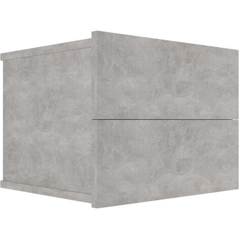 Bedside Cabinet Concrete Grey 40x30x30 cm Chipboard