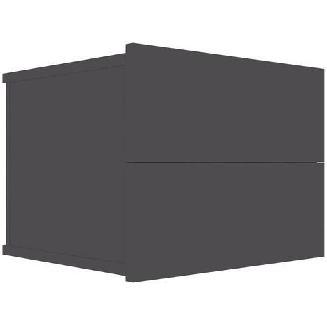 Bedside Cabinet Grey 40x30x30 cm Chipboard