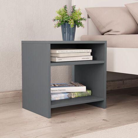 Bedside Cabinet Grey 40x30x40 cm Chipboard