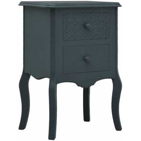 Bedside Cabinet Grey 43x32x65 cm MDF