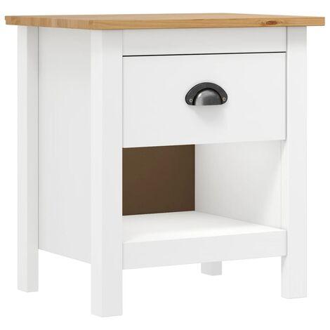 Bedside Cabinet Hill Range 46x35x49.5 cm Solid Pine Wood