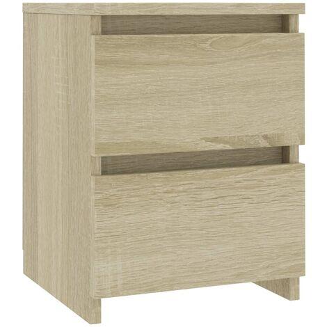 Bedside Cabinet Sonoma Oak 30x30x40 cm Chipboard