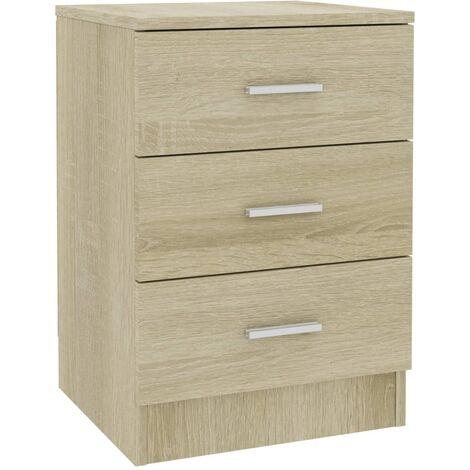 Bedside Cabinet Sonoma Oak 38x35x56 cm Chipboard