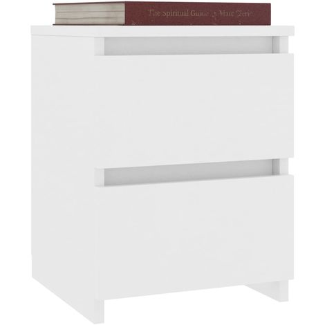 Bedside Cabinet White 30x30x40 cm Chipboard