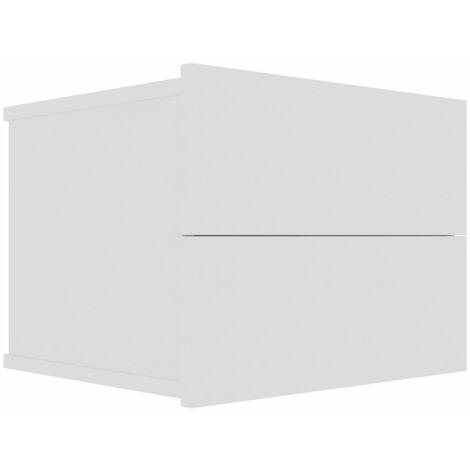 Bedside Cabinet White 40x30x30 cm Chipboard