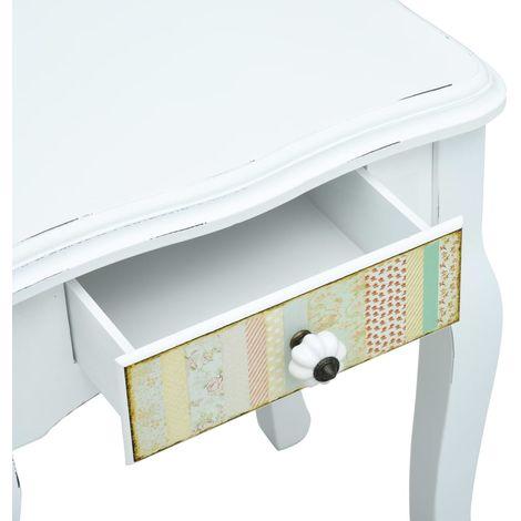 Bedside Cabinet White 40x30x50.5 cm Wood