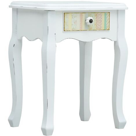 Bedside Cabinet White 40x30x50.5 cm Wood - White