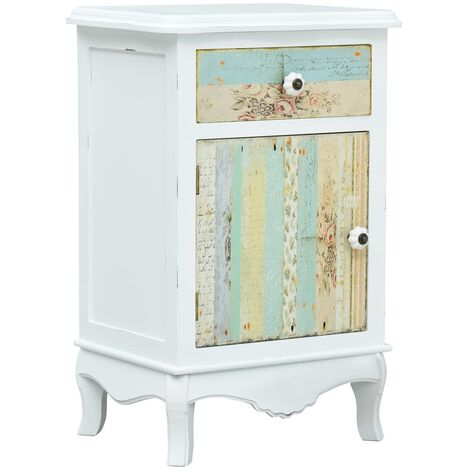 Bedside Cabinet White 40x30x62 cm MDF