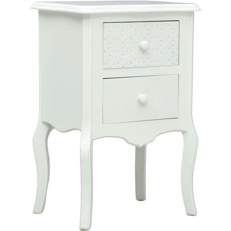 Bedside Cabinet White 43x32x65 cm MDF