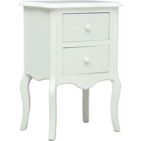 Bedside Cabinet White 43x32x65 cm MDF - White