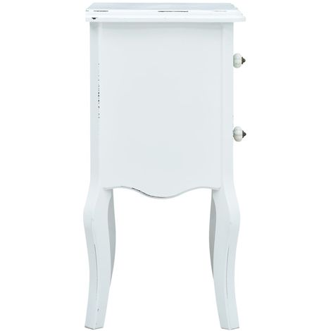 Bedside Cabinet White and Brown 43x32x65 cm MDF