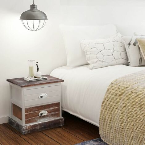 Bedside Cabinets 2 pcs Brown and White