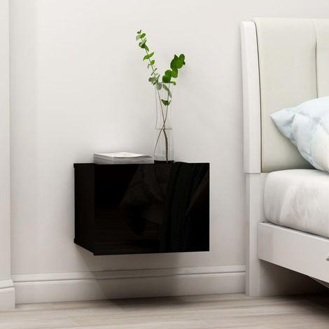Bedside Cabinets 2 pcs High Gloss Black 40x30x30 cm Chipboard