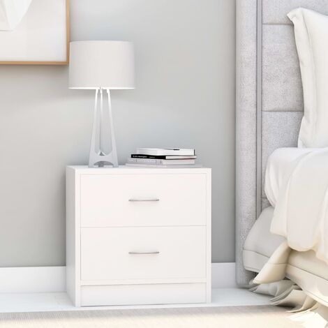 Bedside Cabinets 2 pcs White 40x30x40 cm Chipboard