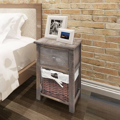 Bedside Cabinets 2 pcs Wood Brown - Brown