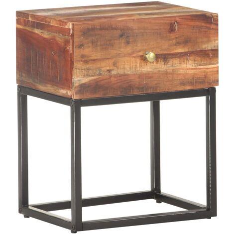 Bedside Table 40x30x50 cm Rough Acacia Wood