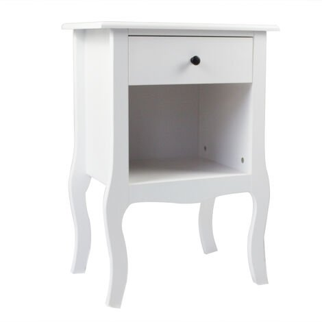 Bedside Table Cabinet Nightstand Storage Unit 1 Drawer Bedroom