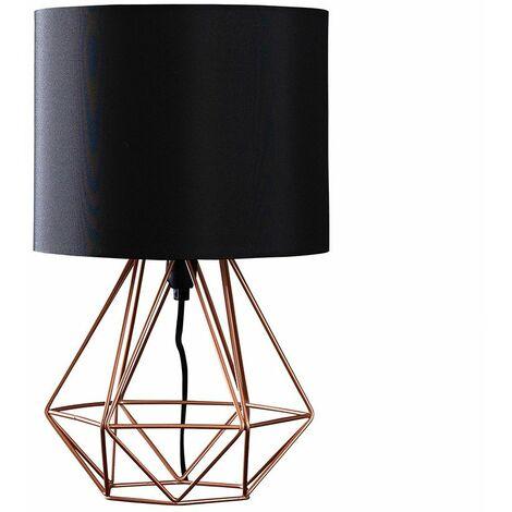 Bedside Table Lamp 40Cm Geometric Bedside Table Lamp - Black - Black