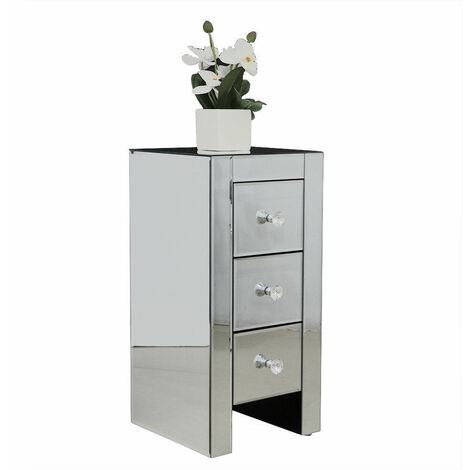 Bedside Table Nightstand Drawer End Table Bedroom Storage - Different colours