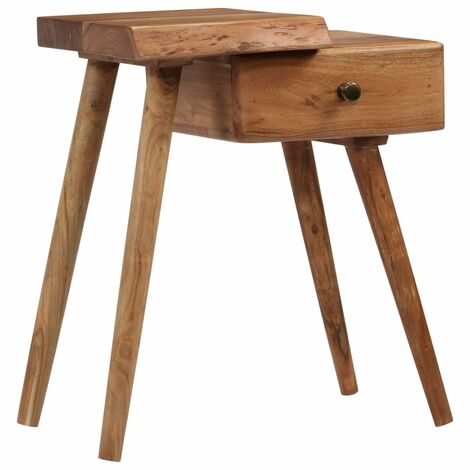 Bedside Table Solid Acacia Wood 45x32x55 cm