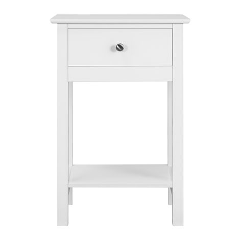 Bedside Table Wooden Side Table Shabby Chic Nightstand Table Cabinet Storage Unit with Drawers Shelf White Gloss