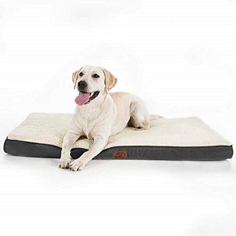 Bedsure Dog Cushion Large Size Removable - Orthopedic Dog Mat 112x81x7.6cm, Foam Dog Bed with Plush Covering, Washable and Antidecay Dog Mattress