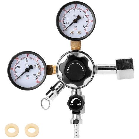 Beer Keg CO2 Regulator Valvula de alivio de presion de seguridad, 0-3000 PSI