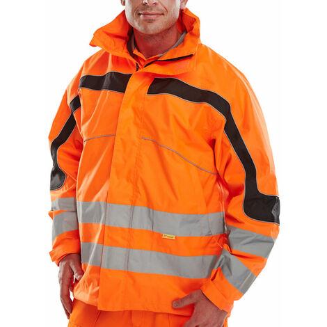 Beeswift - ETON Hi Vis Beathable JACKET OR XL - Orange