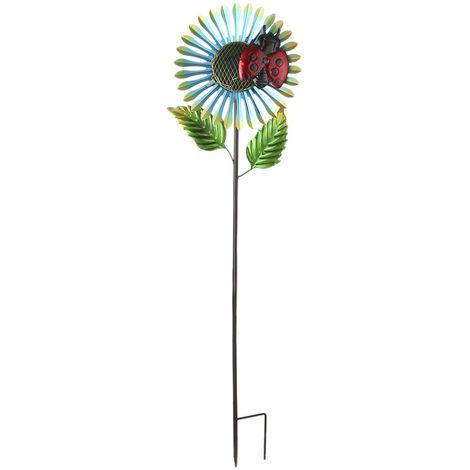 Beetle-sunflower Solar LEDs Lawn Light Garden Decoration Warm Lights