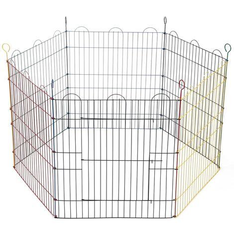 Beeztees Cage pour lapins 6 panneaux 66,5x58 cm Métal