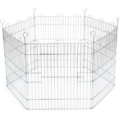 Beeztees Cage pour lapins 6 panneaux 66,5x58 cm Zingué