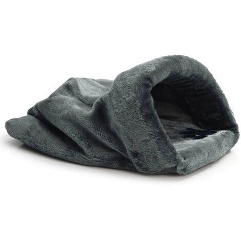 Beeztees Cat Play & Rest Sack Teddy Plush Grey 50x40 cm 704753
