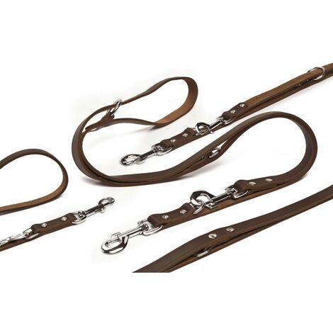 Beeztees Correa de entrenamiento cuero marrón 200x1,8 cm 736402