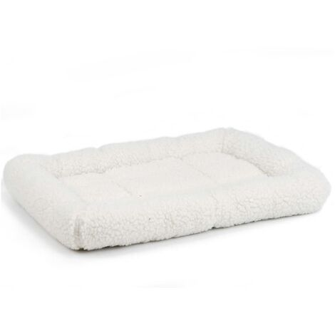Beeztees Dog Bed Faux Sheepskin 62x44x8 cm Cream