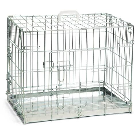 Beeztees Dog Crate 62x44x49 cm Silver - Silver