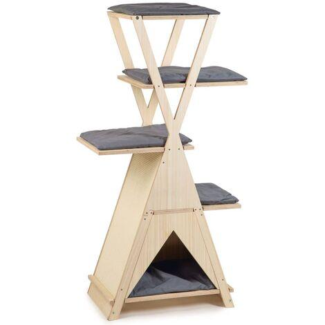 Beeztees Mueble rascador para gatos Mirza madera 70x40x135 cm - Marrón