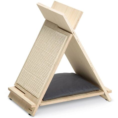 Beeztees Mueble rascador para gatos Rinty madera 55x35x60 cm - Marrón
