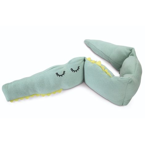 Beeztees Puppy Cuddle Crocodile Toy (One Size) (Green)