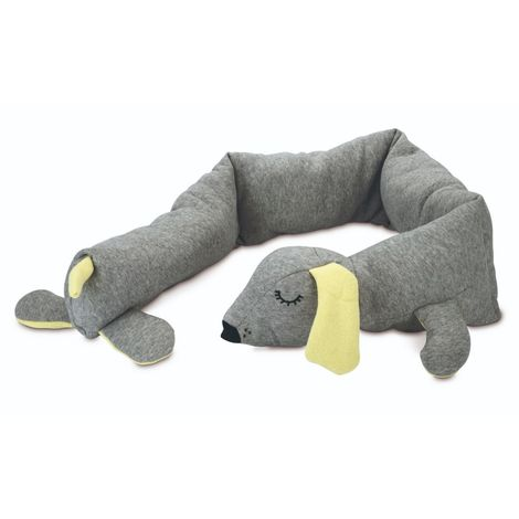 Beeztees Puppy Cuddle Dog Toy (One Size) (Grey)