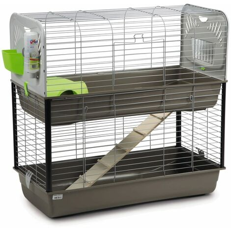 Beeztees Rabbit Cage Caesar 3 Double 100x50x97 cm 266888 - Grey