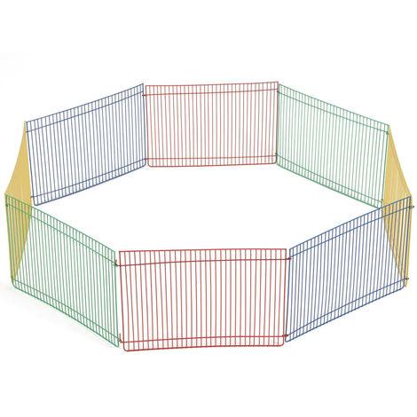 Beeztees Recinto para roedores con 8 paneles 275602 - Multicolore