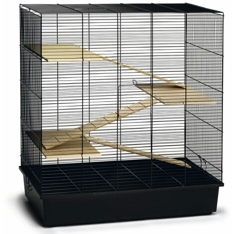 Beeztees Rodent Cage Scooby Black 70x40x78 cm Metal - Black