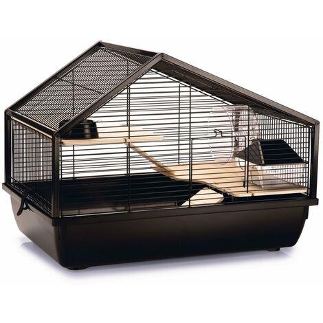 Beezteez Jaula para roedores Boas metal negro 58x38x43,5 cm - Negro